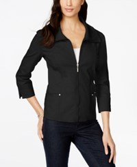 Jm Collection Long Sleeve Zip Front Jacket Only At Macy's