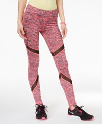 Material Girl Active Juniors' Printed Mesh Inset Leggings Only At Macy's Fruity Spacedye