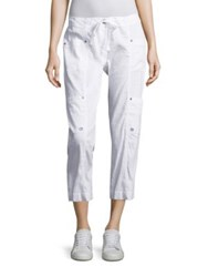 Eileen Fisher Cropped Cargo Pants White