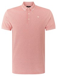 Scotch And Soda Tipped Edge Polo Shirt Pink