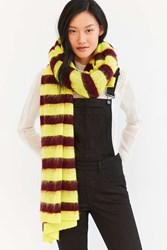 Urban Outfitters Oversized Ribbed Scarf Yellow