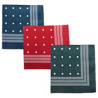 Barbour Spotted Handkerchief Pack Of 3 Multi