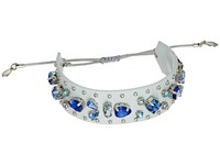 Rebecca Minkoff Jeweled Guitar Strap Bracelet Putty Blue Multi Bracelet