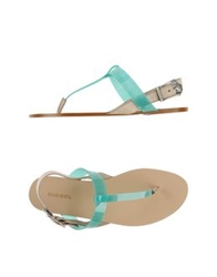Diesel Thong Sandals Turquoise