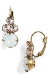Sorrelli Wisteria Crystal Drop Earrings Pink White