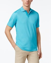 Tasso Elba Men's Supima Blend Cotton Polo Only At Macy's Turquoise Sky