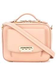Zac Posen Earthette Small Box Bag Pink And Purple