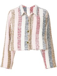 Thom Browne Bow Collar Striped Jacket Multicolour