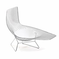 Knoll Bertoia Asymmetric Chaise With Cushion
