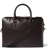 Burberry Cross Grain Leather Briefcase Burgundy