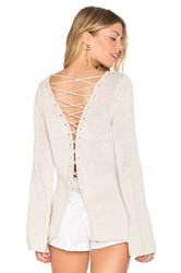 Central Park West Galveston Cross Back Sweater Beige