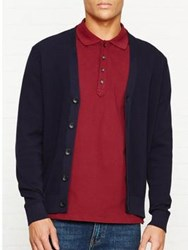 Paul Smith Ps By Knitted Cardigan Navy