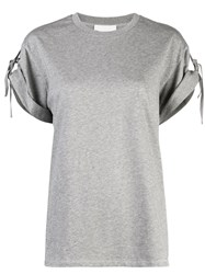 3.1 Phillip Lim Short Sleeved T Shirt With Ties Grey