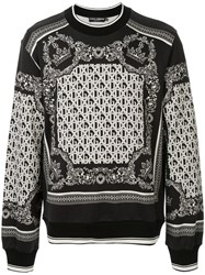 Dolce And Gabbana Intarsia Knit Jumper 60