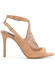 Alexander Wang Netted Panel Sandals Nude And Neutrals
