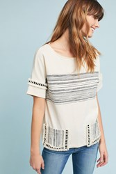 Eva Franco Nantucket Striped Top Cream