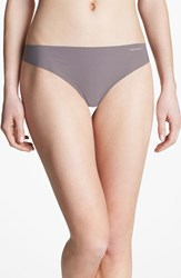Women's Calvin Klein 'Invisibles' Thong French Roast