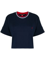 Perfect Moment Contrast Crew Neck Cropped T Shirt 60