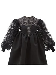 Christopher Kane Cupcake Lace And Duchess Satin Dress Black