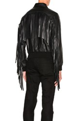 Givenchy Fringe Aviator Jacket In Black