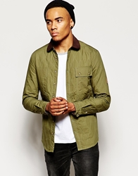 Voi Jeans Jacket Quilted Green