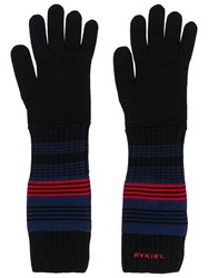 Sonia Rykiel Stripe Detail Gloves Black