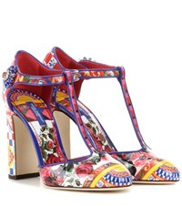 Dolce And Gabbana Printed Patent Leather Pumps Multicoloured