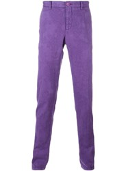 Etro Slim Fit Trousers Pink Purple
