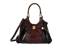 Brahmin Elisa Cocoa Satchel Handbags Brown