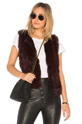 525 America Basic Fur Vest Burgundy