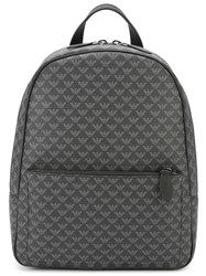 Emporio Armani Eagle All Over Backpack Black