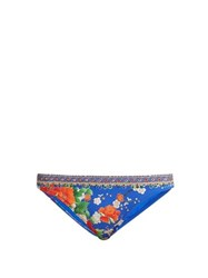 Camilla Playing Koi Print Bikini Briefs Blue Print