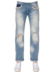 Forte Couture Embellished Cotton Denim Jeans