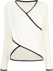 Derek Lam 10 Crosby Crossover Knitted Top White