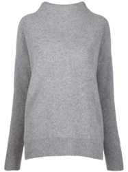 Vince Knit High Neck Sweater Grey