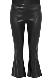 Bailey 44 Lupine Faux Leather Kick Flare Pants Black
