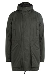 Hunter Fabric Parka With Hood Green
