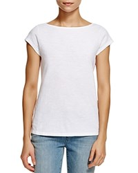 Eileen Fisher Organic Cotton Boat Neck Tee White