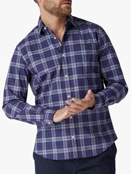 Jaeger End On End Check Shirt Navy