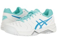 Asics Gel Challenger 11 White Diva Blue Aqua Splash Women's Tennis Shoes