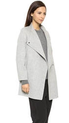 Vince Sweater Back Coat Light Heather Grey