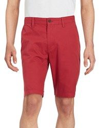 Weatherproof Cotton Chino Shorts Red