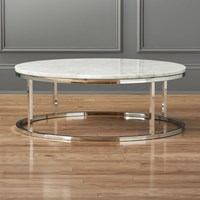 Cb2 Smart Round Marble Top Coffee Table