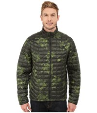 The North Face Thermoball Full Zip Jacket Spruce Green Floral Camo Print Men's Coat