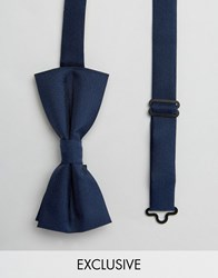 Noose And Monkey Poly Bow Tie Navy