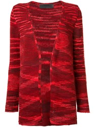 The Elder Statesman Open Front Cardigan Women Cashmere Xs Red