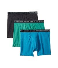 Kenneth Cole Reaction 3 Pack Basic Boxer Brief Charcoal Green Turquoise Heather Underwear Multi