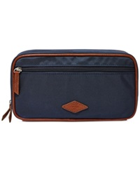 Fossil Double Zip Shave Kit Navy