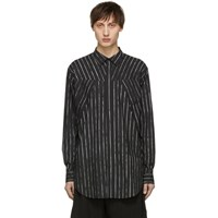 Julius Black Striped Seamed Shirt