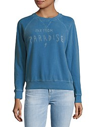 Mother The Square Cotton Sweatshirt Blue Jay